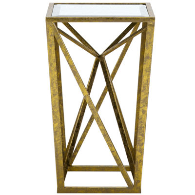 Madison Park Megan Gold Mirrored Console Table