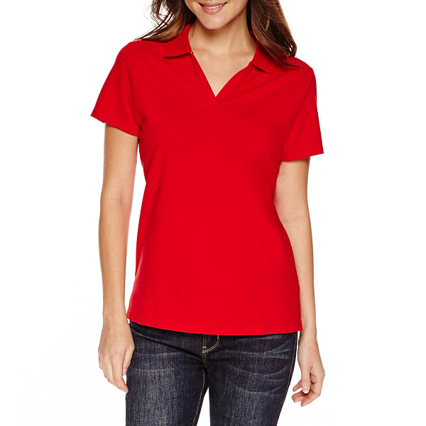 St johns bay polo shirt petites jcpenney for Jcpenney ladies polo shirts