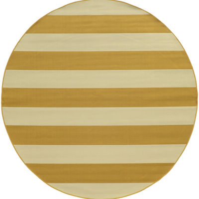 Covington Home Cabana Stripes Round Rug - 7'10""