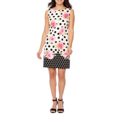 R & K Originals Sleeveless Floral Sheath Dress