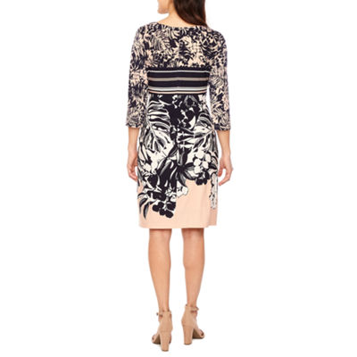 Ronni Nicole 3/4 Sleeve Sheath Dress