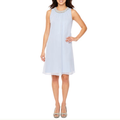 Scarlett Sleeveless Beaded Shift Dress