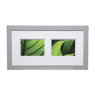 10X20 Wide Grey W/ White Double Mat To 2-5X7 Frame