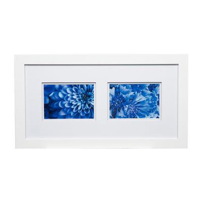 10X20 Wide White W/ White Double Mat To 2-5X7 Frame