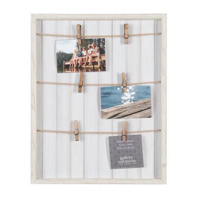 16X20 Whitewash Pallet Collage Frame W/ Clip