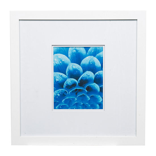 18X18 Wide White W/ White Double Mat To 8X10 Frame