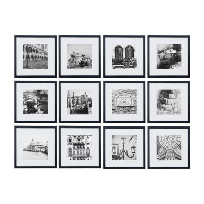 """12 Piece 12""""X12"""" Frame Kit  Matted To 8""""X8"""""""