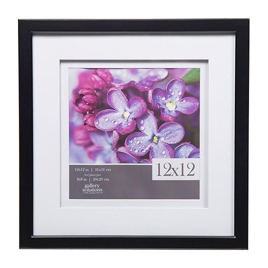 12X12 Black W/ White Double Mat To 8X8 Frame