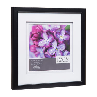 12X12 Black W/ White Double Mat To 8X8 Frame