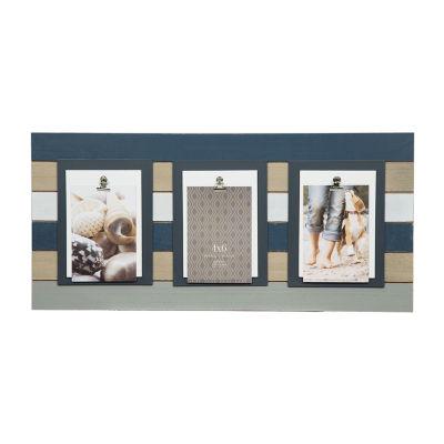 3 Clip Navy/White/Grey Plank Frame