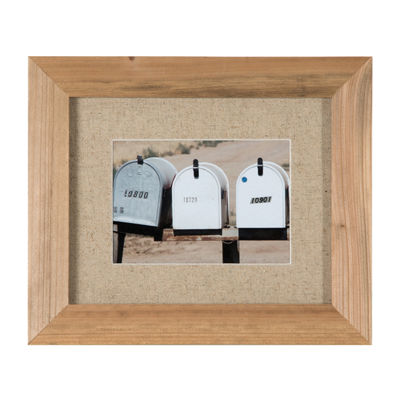 7 Piece Rustic Wood Frame With Fabric Mat Kit