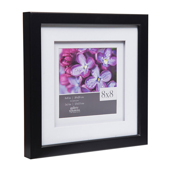 8X8 Black W/ White Double Mat To 5X5 Frame