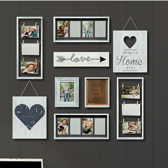 9 Piece Heart Décor Frame Kit