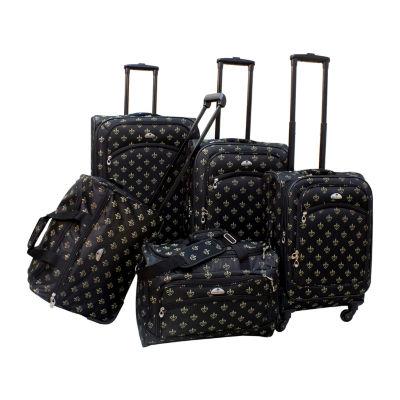 American Flyer Fleur De Lis 5-pc. Luggage Set