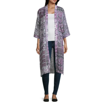 Mixit Elbow Sleeve Floral Kimono