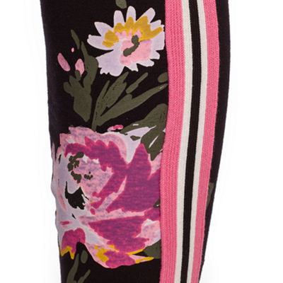 Mixit Side Stripe Flower Hem Leggings