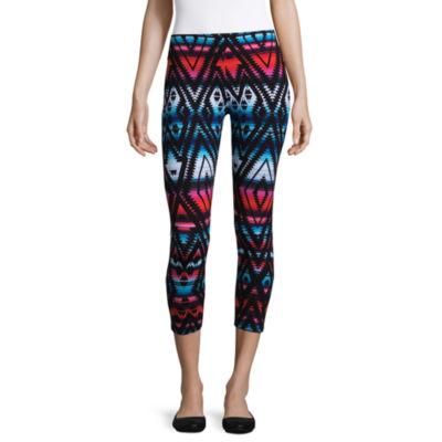 Mixit Print Knit Capri Leggings