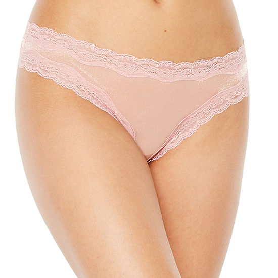 Ambrielle Shimmer Knit Thong Panty