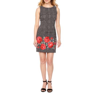 Alyx Sleeveless Gingham Sheath Dress-Petite