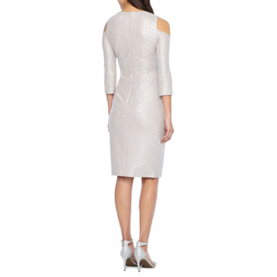 Melrose 3/4 Sleeve Embellished Sheath Dress