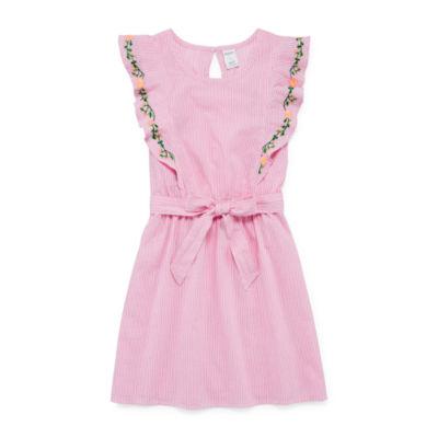 Arizona Sleeveless Stripe A-Line Dress Girls