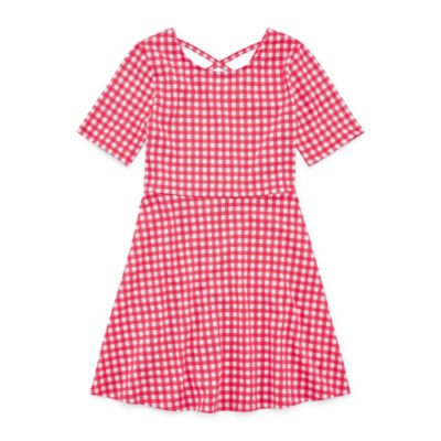 City Streets Short Sleeve Shirt Dress Girls