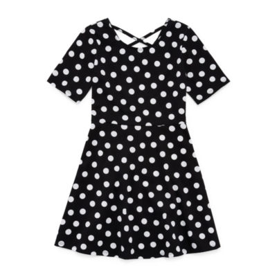City Streets Short Sleeve Cap Sleeve Shirt Dress Girls