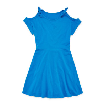 City Streets Short Sleeve Cold Shoulder Sleeve Shirt Dress Girls