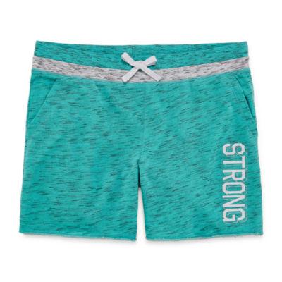 Xersion Rib Waist Midi Shorts Girls Plus