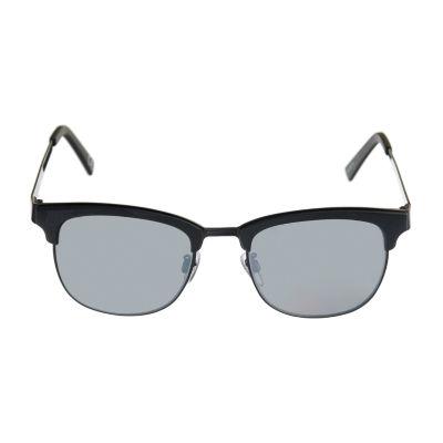 JF J.Ferrar Full Frame Round UV Protection Sunglasses-Mens
