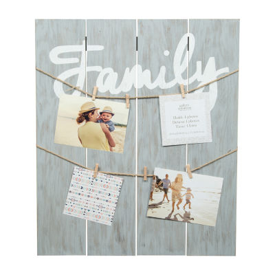 Greywash Family Clip Collage Frame