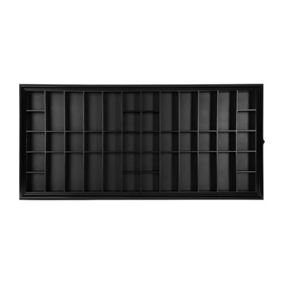 Large 35X16 Black Shot Glass Case