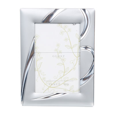 Matte Silver Heart Placecard Holder  12 Pc