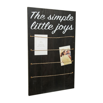 Simple Joys W/ Rope & Clips Collage Frame