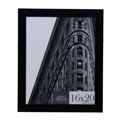 16X20 Black Flat With Inner Ridge Large Wall Frame