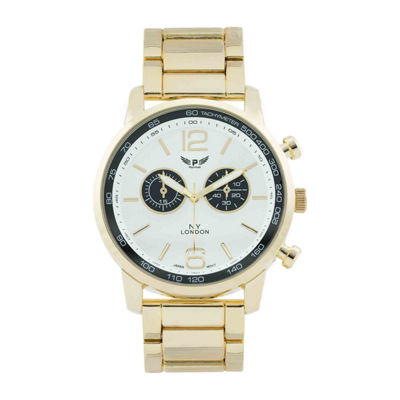 Ny London Mens Gold Tone Bracelet Watch-1477