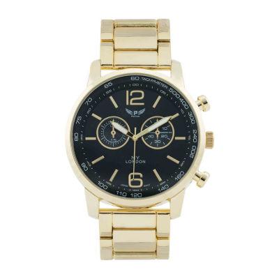 Ny London Mens Gold Tone Bracelet Watch-1477
