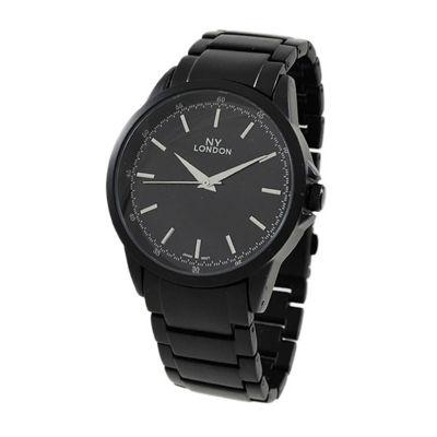 Ny London Mens Black Bracelet Watch-9336