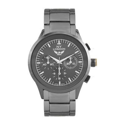 Ny London Mens Gray Bracelet Watch-1541