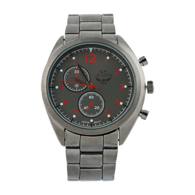 Ny London Mens Gray Bracelet Watch-1542