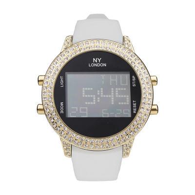 Ny London Mens White Strap Watch-10093