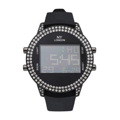 Ny London Mens Black Strap Watch-10093