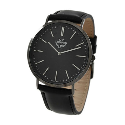 Ny London Mens Black Strap Watch-10015