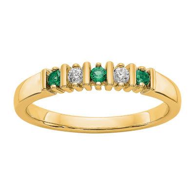 Womens Diamond Accent Genuine White Diamond 14K Gold Wedding Band
