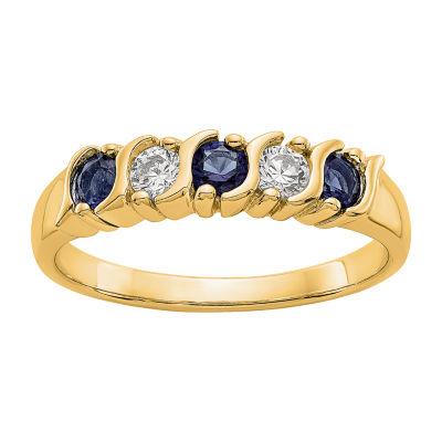 Womens 3MM 1/5 CT. T.W. Genuine White Diamond 14K Gold Round Wedding Band