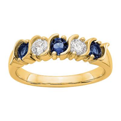 Womens 2.5mm 1/3 CT. T.W. Genuine White Diamond 14K Gold Round Wedding Band