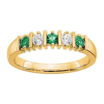 Womens 1/5 CT. T.W. White Diamond 14K Gold Wedding Band