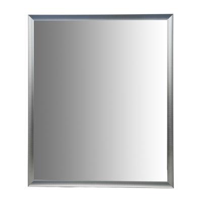 "Aluminum Vanity Mirror With 1 1/4"" Wide Moulding"