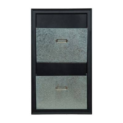 11.5X20 Black with metal bins