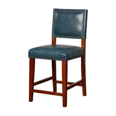 Blake Upholstered Nailhead Trim Counter Stool
